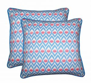 Buy Lushomes Diamond Print Cotton Cushion Covers Pack of 2 online