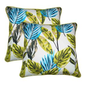Buy Lushomes Forest Print Cotton Cushion Covers Pack of 2 online