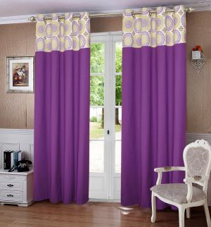 Buy Lushomes Bold Printed Bloomberry Cotton Curtains For Door (single Pc) online