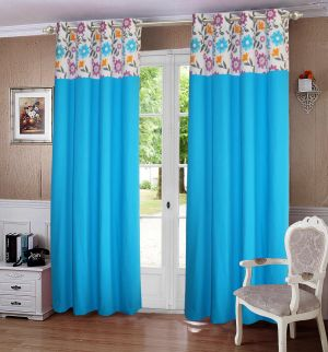 Buy Lushomes Flower Print Bloomberry Single Curtain for Long Door online