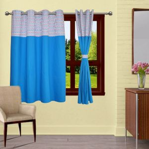 Buy Lushomes Diamond Bloomberg Curtains With 8 Eyelets & Tiebacks For Window online