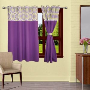 Buy Lushomes Bold Printed Bloomberg Curtains With Eyelet & Tiebacks For Window online