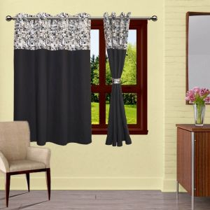 Buy Lushomes Coins Bloomberg Curtains With 8 Eyelets & Tiebacks For Window online