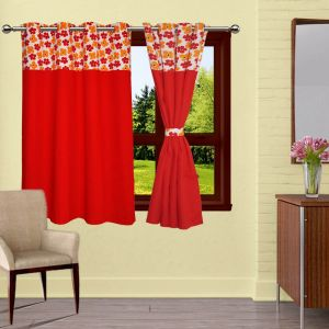 Buy Lushomes Basic Bloomberg Curtains With 8 Eyelets & Tiebacks For Window online