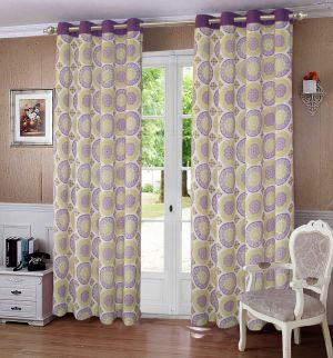 Buy Lushomes Bold Printed Cotton Curtains for Long Door online