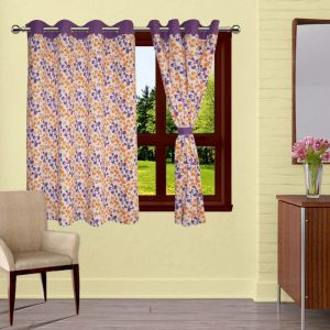 Buy Lushomes Shadow Printed Curtains With 8 Eyelets & Tiebacks For Window online