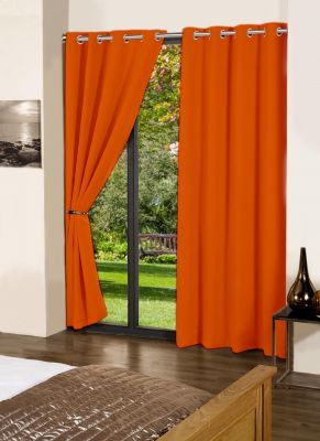 Buy Lushomes Red Wood Plain Cotton Curtains With 8 Eyelets For Long Door online