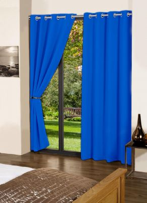 Buy Lushomes Sky Diver Plain Cotton Curtains With 8 Eyelets For Long Door online