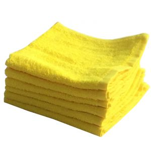 Buy Lushomes Cotton Yellow Face Towel Set (pack Of 6) online