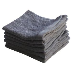 Buy Lushomes Cotton Navy Blue Face Towel Set (pack Of 6) online