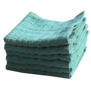 Buy Lushomes Cotton Light Blue Face Towel Set (pack Of 6) online