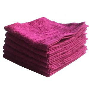 Buy Lushomes Cotton Pink Face Towel Set (pack Of 6) online