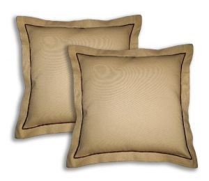 Buy Lushomes Cotton Half Panama Sand Cushion Covers (pack Of 2) online