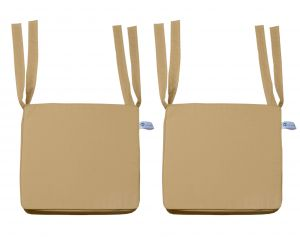 Buy Lushomes Cotton Sand Chair Pads With 4 Strings And Foam Filling online