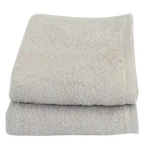 Buy Lushomes Cotton Light Grey Hand Towel Set (pack Of 2) online