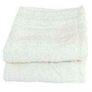 Buy Lushomes Cotton White Hand Towel Set (pack Of 2) online