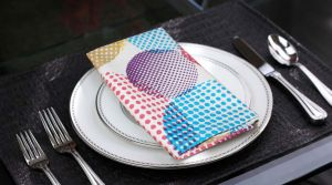 Buy Lushomes Circles Printed Cotton 6 Table Napkins Set (dinner Napkins) online