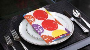 Buy Lushomes Titac Printed Cotton 6 Table Napkins Set (dinner Napkins) online