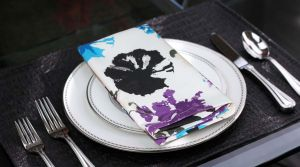 Buy Lushomes Watercolor Printed Cotton 6 Table Napkins Set (dinner Napkins) online