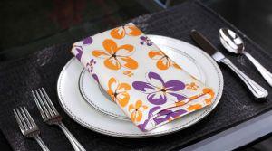 Buy Lushomes Shadow Printed Cotton 6 Table Napkins Set (dinner Napkins) online