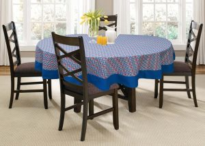 Buy Lushomes 4 Seater Diamond Printed Round Table Cloth online