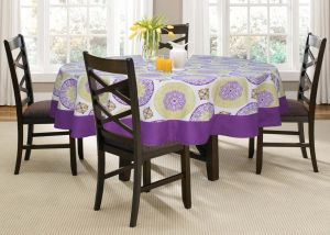 Buy Lushomes 6 Seater Bold Printed Round Table Cloth online