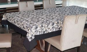 Buy Lushomes 6 Seater Ragular Coins Printed Table Cloth online