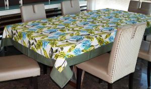 Buy Lushomes 6 Seater Ragular Forest Printed Table Cloth online