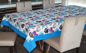 Buy Lushomes 6 Seater Ragular Watercolor Printed Table Cloth online