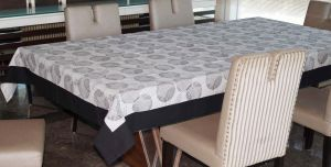 Buy Lushomes 6 Seater Small Geometric Printed Table Cloth online