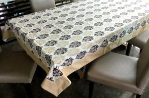 Buy Lushomes 8 Seater Earth Printed Table Cloth online