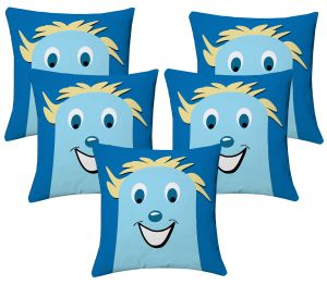 Buy Lushomes Kids Digital Print Smile Cushion Covers (pack Of 5) online