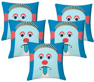 Buy Lushomes Kids Digital Print Expression Cushion Covers (pack Of 5) online