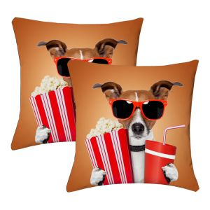 Buy Lushomes Kids Digital Print Stylish Dog Cushion Covers (pack Of 2) online