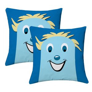 Buy Lushomes Kids Digital Print Smile Cushion Covers (pack Of 2) online
