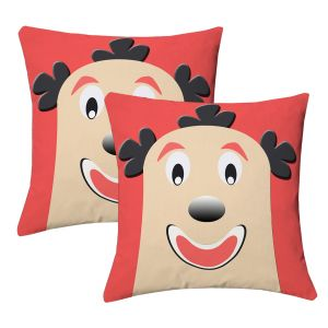 Buy Lushomes Kids Digital Print Bald Funny Man Cushion Covers (pack Of 2) online