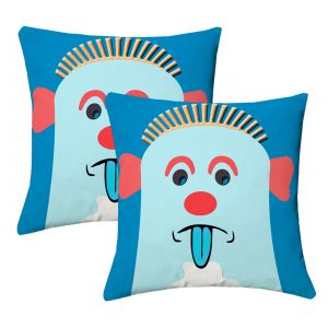 Buy Lushomes Kids Digital Print Expression Cushion Covers (pack Of 2) online