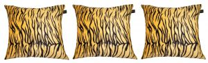Buy Lushomes Yellow Tiger Skin Printed Cushion Covers (pack Of 3) online