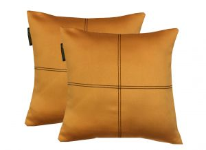 Buy Lushomes Mango Blackout Cushion Cover With Artistic Stitch online