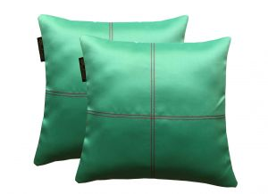 Buy Lushomes Blue Stone Blackout Cushion Cover With Artistic Stitch online