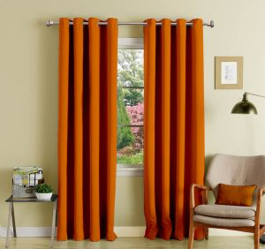 Buy Lushomes Mango Polyester Blackout Curtains With 8 Eyelets For Door online