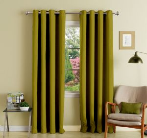 Buy Lushomes Ginger Polyester Blackout Curtains With 8 Eyelets For Door online