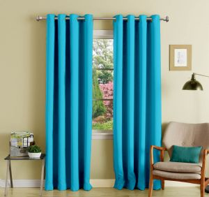 Buy Lushomes Tac Polyester Blackout Curtains With 8 Eyelets For Door online