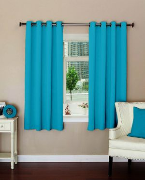 Buy Lushomes Plain Tac Polyester Blackout Curtains For Windows online