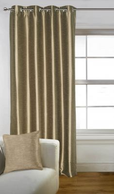 Buy Lushomes Brown Art Silk Door Curtain with Polyester Lining online