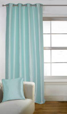 Buy Lushomes Light Blue Art Silk Door Curtain With Polyester Lining - Poislcnd1006 online