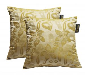 Buy Lushomes Light Green Polyester Jacquard Cushion Covers Pack Of 2 online