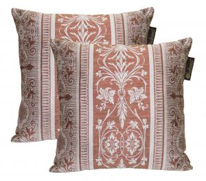 Buy Lushomes Maroon Polyester Jacquard Cushion Covers Pack Of 2 online