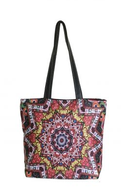 Buy Lushomes Abstract Digital Printed Polyester Tote online