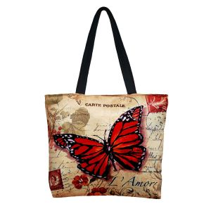 Buy Lushomes Big Butterfly Digital Printed Polyester Tote online